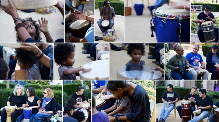 drum circle collage